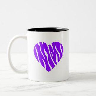 すみれ色の紫色の野生のハート ツートーンマグカップ