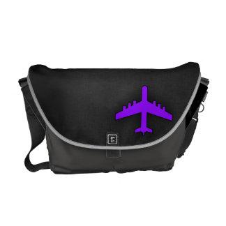 すみれ色の紫色の飛行機; パイロット クーリエバッグ