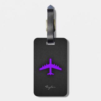 すみれ色の紫色の飛行機; パイロット ラゲッジタグ