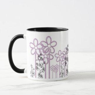 すみれ色の花 マグカップ