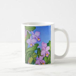 すみれ色の蘭 コーヒーマグカップ