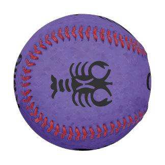 すみれ色の蟹座の(占星術の)十二宮図 野球ボール