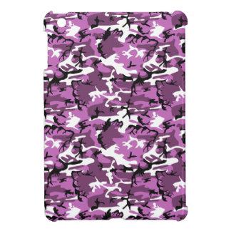 すみれ色の迷彩柄 iPad MINIカバー