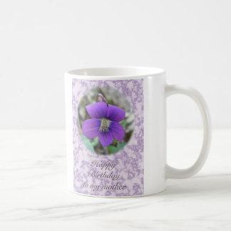 すみれ色の野生の花の母誕生日項目 コーヒーマグカップ