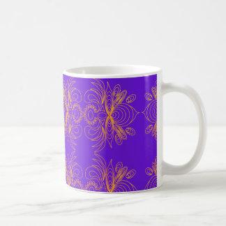 すみれ色の金ゴールド コーヒーマグカップ