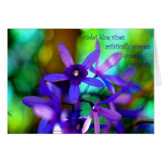すみれ色の青いVines~Queenのリース カード