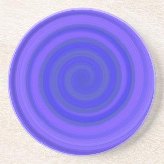 すみれ色の青のレトロキャンデーの渦巻 コースター