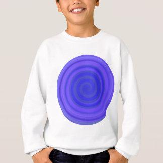 すみれ色の青のレトロキャンデーの渦巻 スウェットシャツ