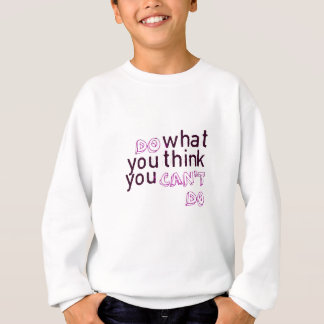 することができない考えるものして下さい スウェットシャツ
