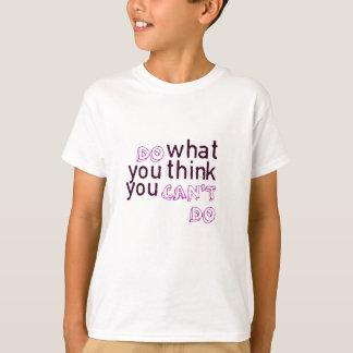 することができない考えるものして下さい Tシャツ