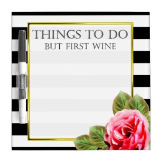 するべきおもしろいな事しかし最初ワイン ホワイトボード