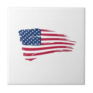 ずたずたに裂かれた米国旗 タイル