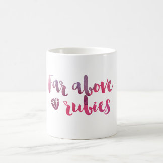 ずっとルビー-諺31のマグの上で コーヒーマグカップ