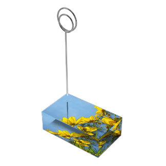 ずっとBracted Tickseedヒマワリの野生の花 テーブルカードホルダー
