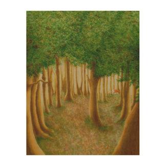 ずるい森林木製の壁の芸術 ウッドウォールアート