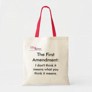 ずるい米国憲法修正第一項のバッグ トートバッグ