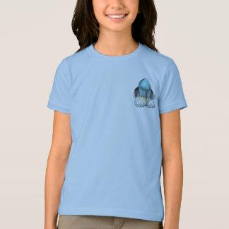 ずんぐりしたLauncher™ロケットの前部か背部信号器のTシャツ Tシャツ