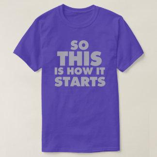 """""""そうこれは""""暗いティーをいかに始めるかです Tシャツ"""