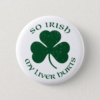 そうアイルランド語私のレバーは傷つけますボタンの`を 5.7CM 丸型バッジ