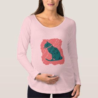 そうクールで写実的な猫の上/妊婦のな上 マタニティTシャツ