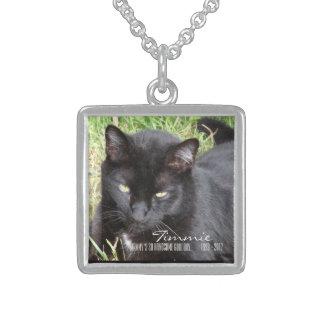 そうハンサムでよい男の子猫の記念物のネックレス スターリングシルバーネックレス