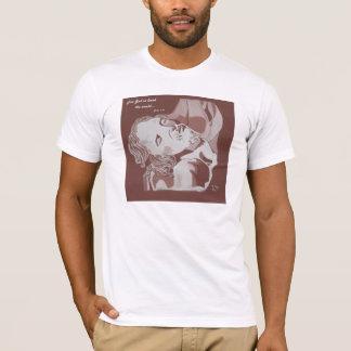 そう世界のオウム愛される神のために白をティーにのせて下さい Tシャツ