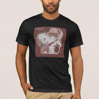 そう世界のオウム愛される神のために黒をティーにのせて下さい Tシャツ