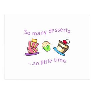 そう多くのデザート ポストカード