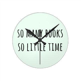 そう多くの本そう少し時間 ラウンド壁時計