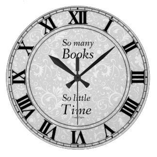 そう多くの本の時計 ラージ壁時計