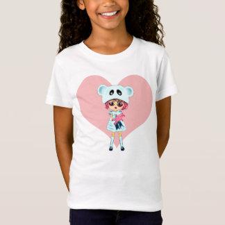 そう悲しいなぜかわいいの女の子か。 くまを持つ泣き叫びの子供 Tシャツ