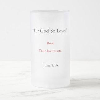そう愛される読書、なぜなら神あなたの招待状! 、ジョン… フロストグラスビールジョッキ