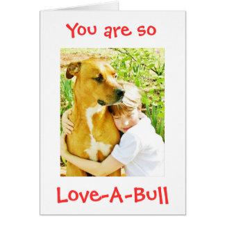 そう愛Bullのピットブル愛カードNotecardです カード