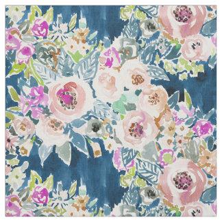 そう甘美でカラフルな海軍Bohoの花柄パターン ファブリック