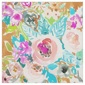 そう甘美でカラフルなBohoの花柄の水彩画 ファブリック