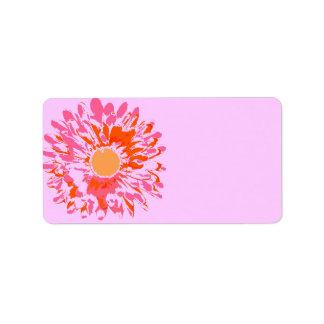 そう花のバルミツワーのかわいらしいプリント専有物ラベル ラベル