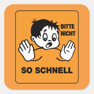 そう速く、交通標識オーストリア スクエアシール