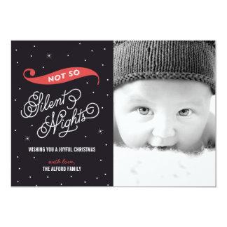 そう静かなない夜クリスマスの写真カード 12.7 X 17.8 インビテーションカード