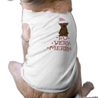 そう非常にメリー! チョコレート実験室のクリスマス ペット服