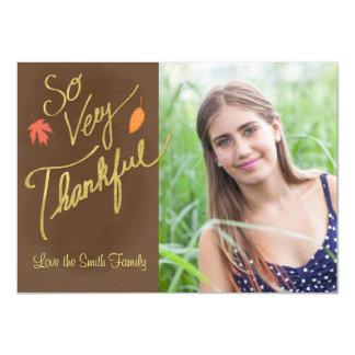 そう非常に感謝している感謝祭カード 11.4 X 15.9 インビテーションカード