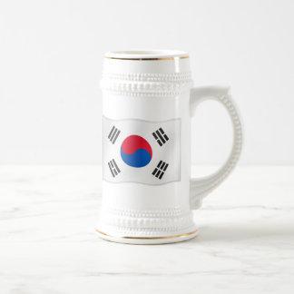 そう韓国の振る旗 ビールジョッキ