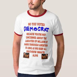 そうDEMOCTATを投票しました Tシャツ