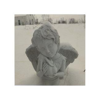そこでは、そこに、ベビーのバニー… 天使の芸術 ウッドウォールアート