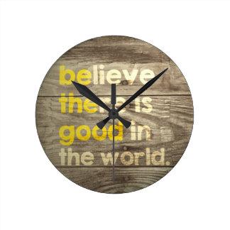 そこにあります世界でよいですが信じて下さい。  よいがあって下さい ラウンド壁時計