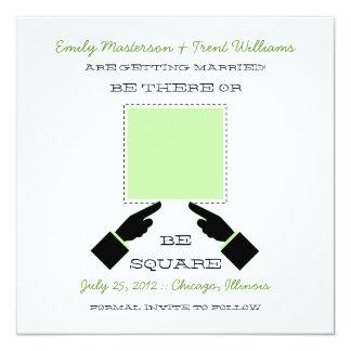 そこにまたは正方形の保存日付、賢人 カード