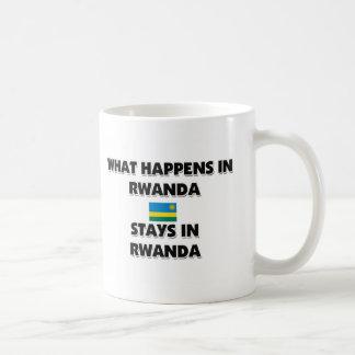 そこに起こる何がルワンダの滞在で コーヒーマグカップ