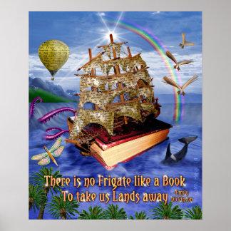 そこのエミリー・ディキンソンの引用文はフリゲート艦の本の海ではないです ポスター