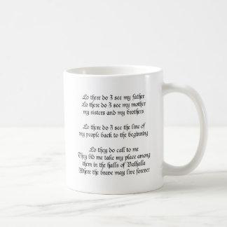 そこのバイキングの祈りの言葉Lo私は私の父に会います コーヒーマグカップ