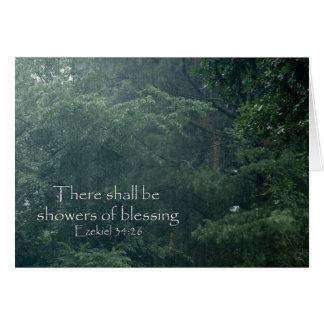 そこのEzekielの34:26は天恵のシャワーです カード