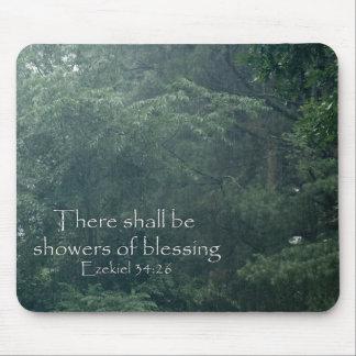そこのEzekielの34:26は天恵のシャワーです マウスパッド